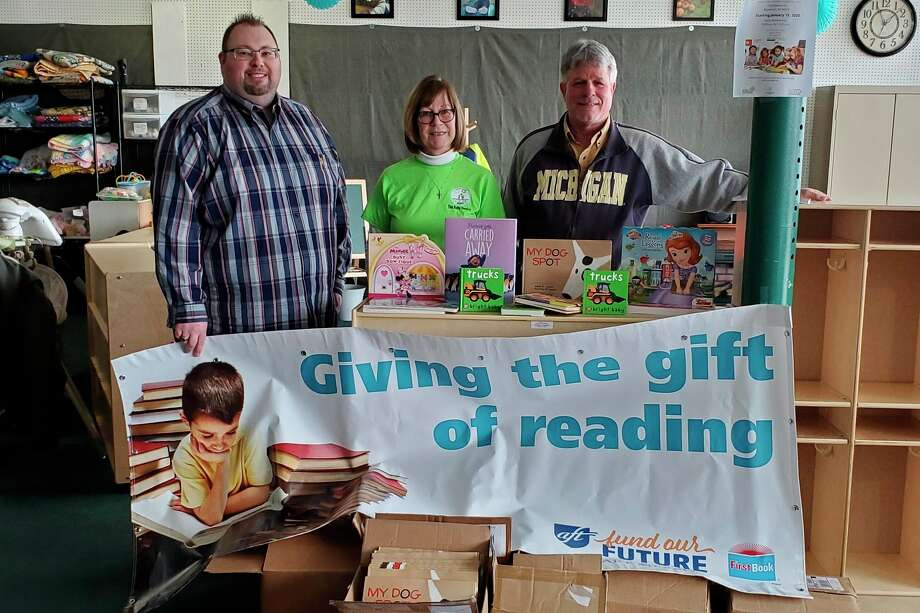 Pictured are AFT Local 04945 President Matthew Smith, Gladwin County Baby Pantry Director Joann Hoag and AFT Michigan Field Representative Gary Wellnitz. (Photo provided)