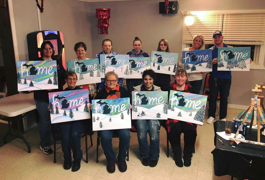 Manistee Moose Lodge 1128 and Women of the Moose Chapter 2315 host painting classes withJoann Snay of Artful Creations. A portion of the money raised went towards Stomp Out Cancer. (Courtesy Photo/Joann Snay)