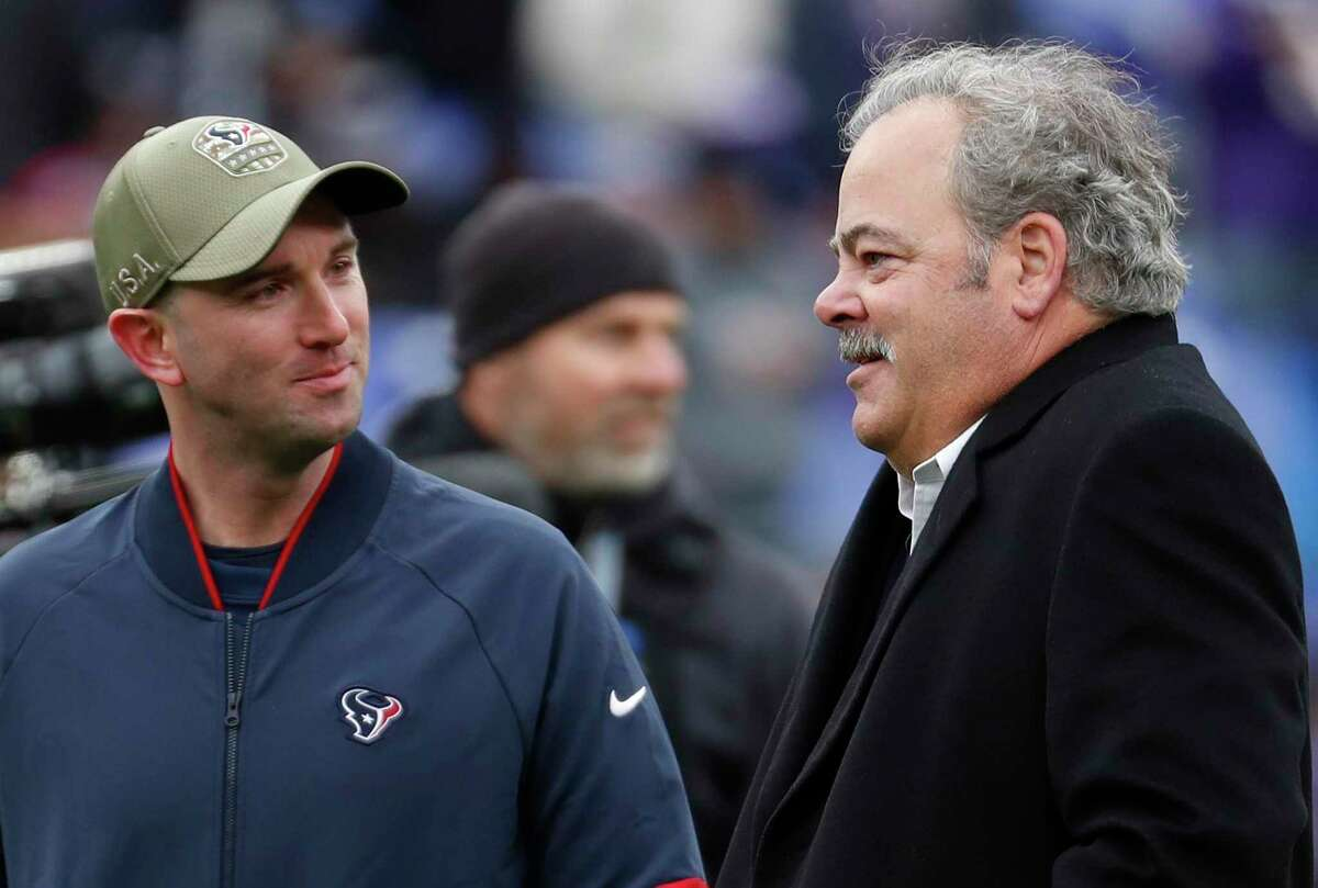 Texans executive vice president of football operations Jack Easterby (left) is described as someone who has owner Cal McNair's ear.