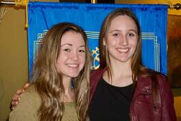 Madelyn Saenz from Alton High School and Rachel Gaworski from Mississippi Valley Christian School have been named the January Students of the Month by the Alton Godfrey Rotary Club.