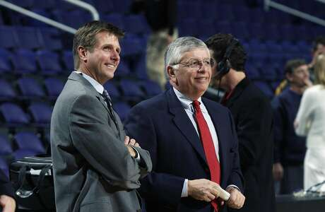 During their 30 years working together, Rick Welts (left) came to view David Stern (right) as a trusted mentor and friend.