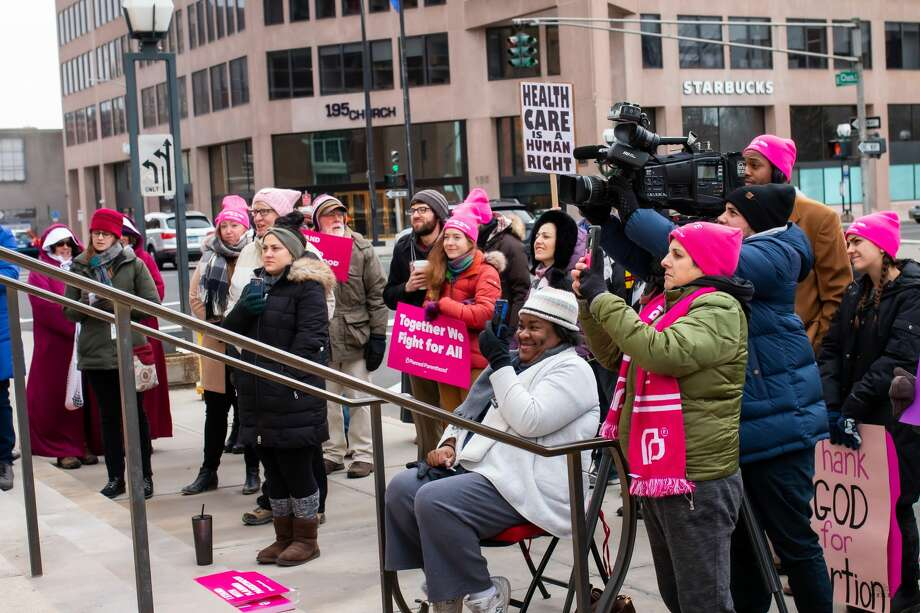 The New Haven Women's March was held on January 18, 2020 at New Haven Superior Court. Speakers focused on reproductive justice, LGBTQI+ rights and racial justice. Were you SEEN? Photo: Shaleah Williams - Eighty7Pixels