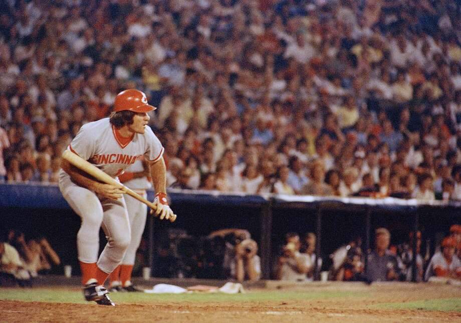 FILE - In this Aug. 2, 1978 file photo, Cincinnati Reds Pete Rose at bat against the Atlanta Braves in Atlanta.  Rose says cheating on the field is bad for the game, and the one thing he never did with his bets is change the outcome of a game.  (AP Photo, File) Photo: Anonymous, Associated Press