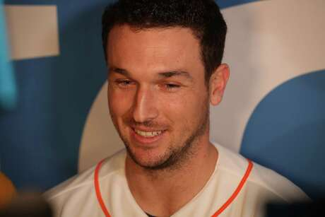 Alex Bregman is interviewed by the media during FanFest at Minute Maid Park Saturday, Jan. 18, 2020, in Houston