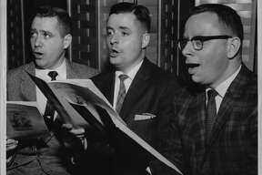 New York - New members of Mendelssohn Club Ralph G. Tooley, Richard W. Brackett, Harold K. Bauer. January 18, 1961 (Knickerbocker News Staff Photo/Times Union Archive)