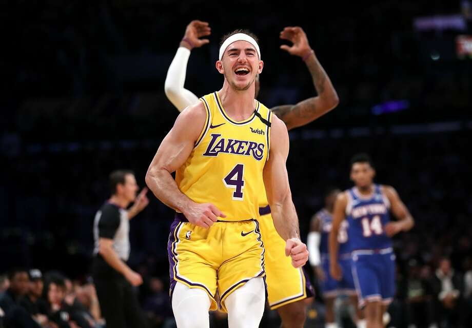 Alex Caruso, a guard for the Los Angeles Lakers, missed his sister's Texas wedding in order to stay in the NBA bubble. Photo: Sean M. Haffey, Getty Images