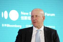 David Solomon, chief executive officer of Goldman Sachs, speaks during a panel discussion at the Bloomberg New Economy Forum in Beijing on Nov. 21, 2019.