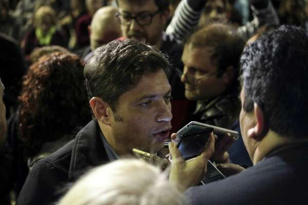 Axel Kicillof in Tortuguitas, Argentina, as he was campaigning to be elected governor of Buenos Aires province, on Aug 3, 2019.