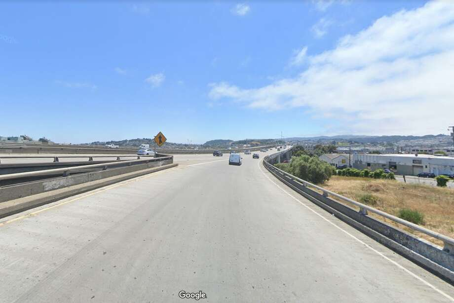 A person was killed on Jan. 18, 2020 while on foot in the far left lane of southbound Interstate Highway 280 near the onramp from Cesar Chavez Boulevard, the California Highway Patrol said. Photo: Google Street View