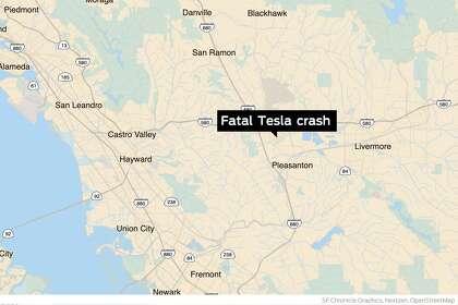 Tesla driver dies after car bursts into flames in Pleasanton crash
