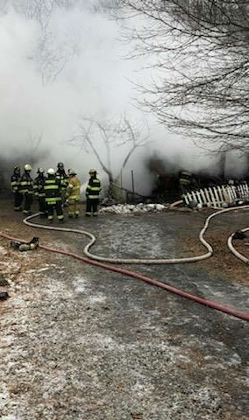 Cairo police in Greene County posted a picture on Facebook of the fire on Old Route 23 that claimed the life of a man Saturday morning. The man's identity, and cause of the fire, is under investigation.