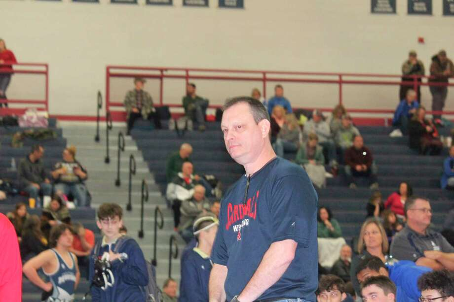 Big Rapids coach Bruce Hoffman had seven wrestlers place at Lakeview on Saturday. (Pioneer file photo)