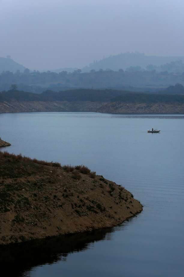 The stillness of Lake Amador (water-skiing and personal watercraft are prohibited) helps anglers land trophy fish. Photo: Leah Millis / The Chronicle 2015