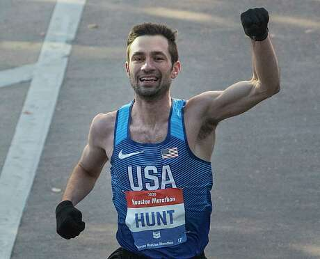 As the top American finisher in Sunday's Houston Marathon, Craig Hunt placed eighth overall.