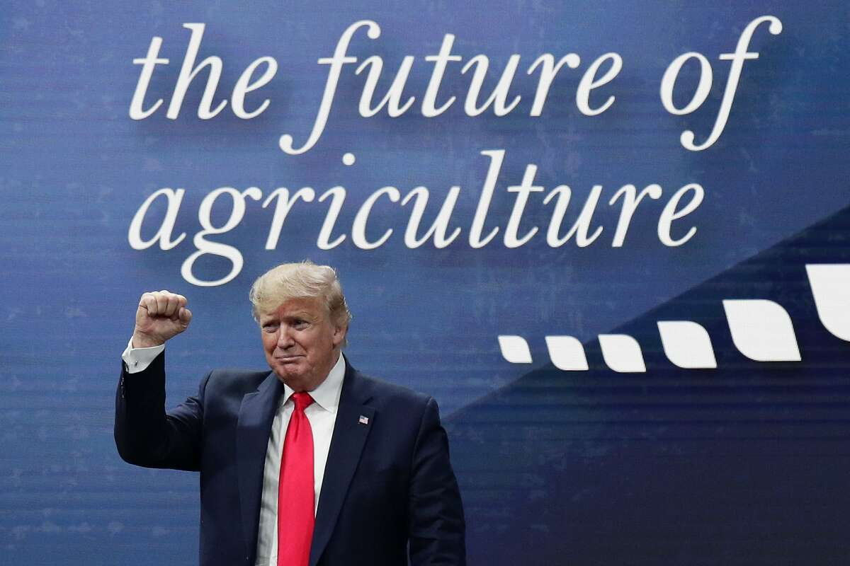 As president, Donald Trump attended the American Farm Bureau Federation Annual Convention in Austin, Texas, in January 2020.