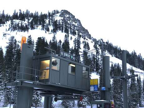 The chairlift at the bottom of the Subway run where one person was killed and another seriously injured in an avalanche at Alpine Meadows Ski Resort on Friday, Jan. 17, 2020. (AP Photo/Scott Sonner)