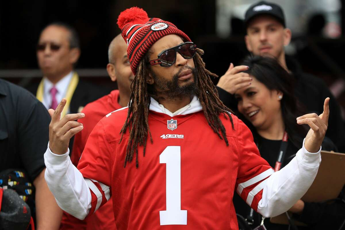 """Recording artist Jonathan """"Lil Jon"""" Smith attends the NFC Championship game between the San Francisco 49ers and the Green Bay Packers at Levi's Stadium on January 19, 2020 in Santa Clara, California. (Photo by Sean M. Haffey/Getty Images)"""