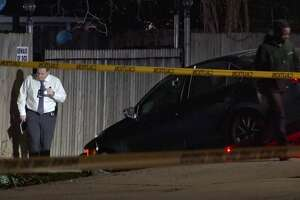 Houston police officers investigate a deadly shooting in the 1200 block of Elberta on Sunday, Jan. 19, 2020.