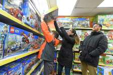 Black Friday 2019 shoppers at Awesome Toys and Gifts in Stamford, Conn.