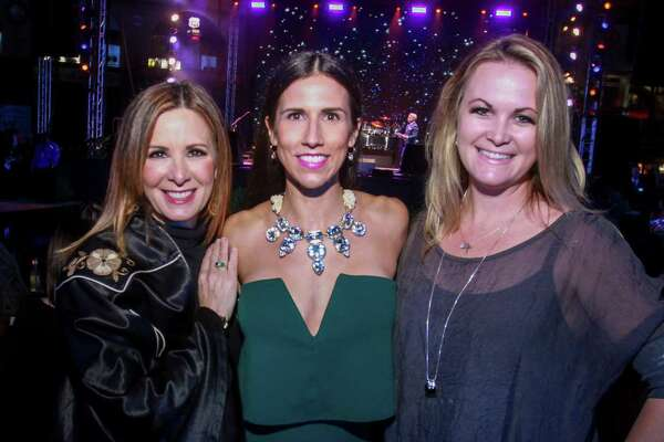 Patty Biggio, from left, Dana Backe and Heather Sampson at the Astros Foundation's Diamond Dreams gala at Minute Maid Park on January 17, 2020.