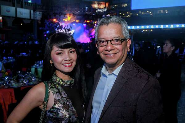 Van Ngo and Roland Garcia at the Astros Foundation's Diamond Dreams gala at Minute Maid Park on January 17, 2020.