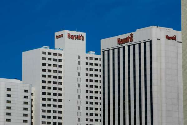 The Harrah's Hotel & Casino in downtown is viewed on April 13, 2015, in Reno, Nevada.