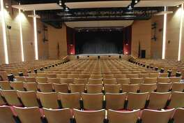Pictured is the auditorium at Saxe Middle School in New Canaan, Connecticut.