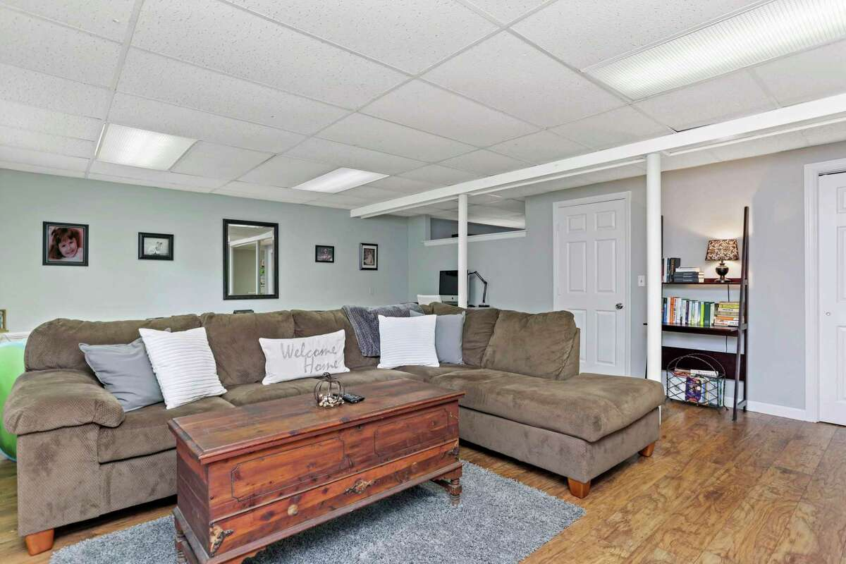 On the full finished walk-out lower level there is a family room and a full bath.