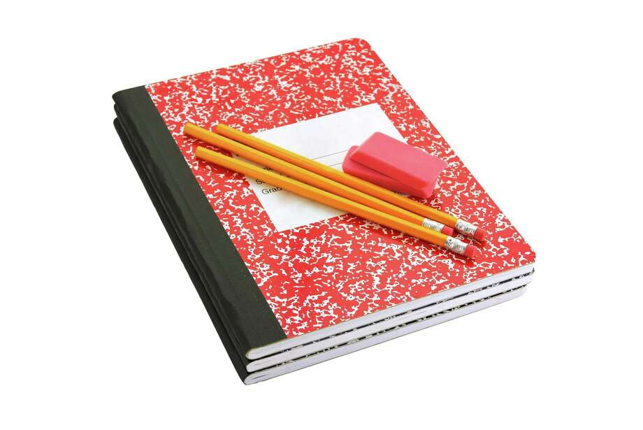 FOR SUSAN BARBER -- composition book, pencils and erasers - school Photo: Nancy Tripp / handout