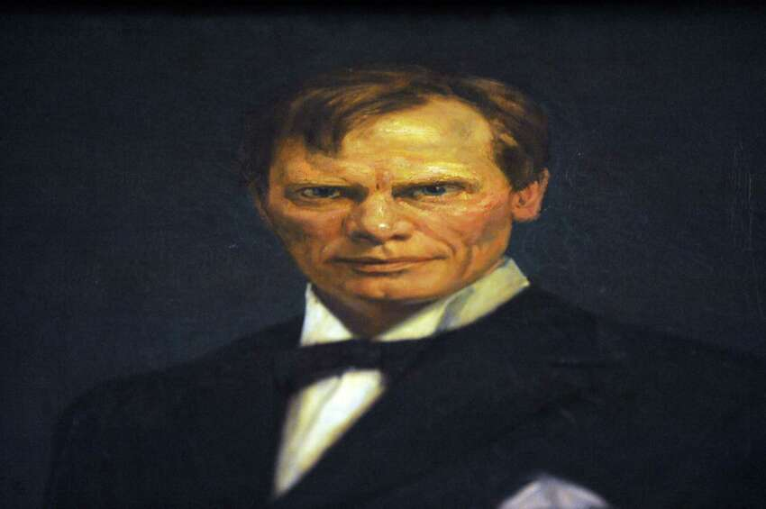 Detail of a painting of NYS 39th Governor William Sulzer painted by artist Leo Mielziner at the Capitol on Thursday May 14, 2015 in Albany, N.Y. (Michael P. Farrell/Times Union)