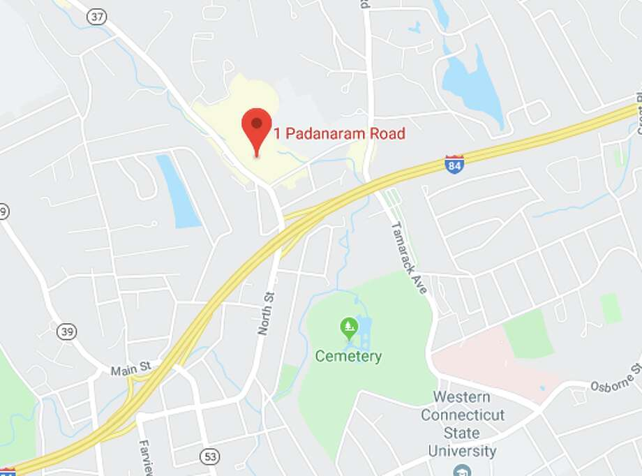A pedestrian was seriously injured after being hit and pinned under a vehicle near 1 Padanaram Road in Danbury on Friday, Jan. 17, 2020. Photo: Google Maps Screenshot