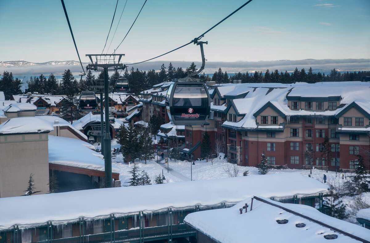 A Heavenly Ski Resort gondola lift leaves the lake level station for a ride to the top on Jan. 28, 2017, in South Lake Tahoe, Calif.