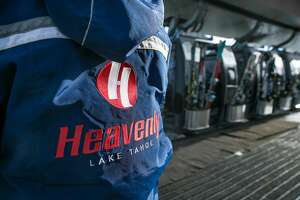SOUTH LAKE TAHOE, CA - JANUARY 28: Skiers crowd onto a gondola lift to the top of Heavenly Mountain ski resort on January 28, 2017, in South Lake Tahoe, California. The six-year drought in California has been called off by the Federal government following record rain throughout the state and up to 25 feet of snow in the Sierra Nevada Mountain Range. (Photo by George Rose/Getty Images)