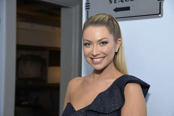 "LOS ANGELES, CALIFORNIA - DECEMBER 14: TV personality Stassi Schroeder poses backstage before a live version of her podcast ""Straight Up With Stassi"" at The Wiltern on December 14, 2019 in Los Angeles, California. (Photo by Michael Tullberg/Getty Images)"