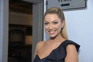 """LOS ANGELES, CALIFORNIA - DECEMBER 14: TV personality Stassi Schroeder poses backstage before a live version of her podcast """"Straight Up With Stassi"""" at The Wiltern on December 14, 2019 in Los Angeles, California. (Photo by Michael Tullberg/Getty Images)"""