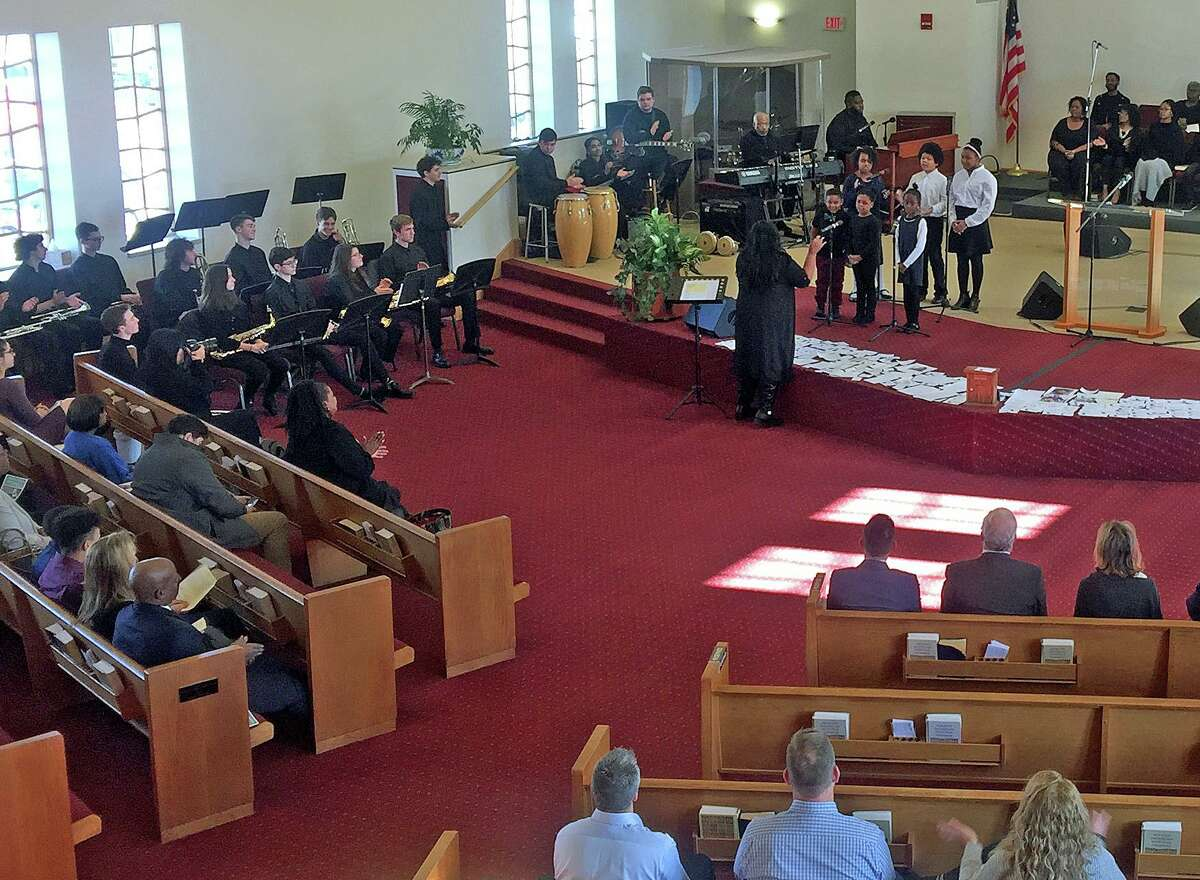 New Hope Baptist Church's Sounds of Joy performs at the 18th annual Dr. King Celebration at New Hope Baptist Church in Danbury on Monday, Jan. 2o, 2020.