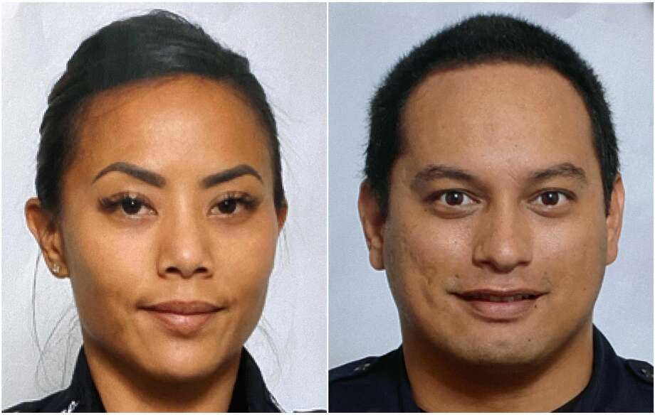 This undated photo provided by the Honolulu Police Department shows Officers Tiffany Enriquez, left, and Kaulike Kalama. Enriquez and Kalama were killed Sunday, Jan. 19, 2020, while responding to a call. (Courtesy of Honolulu Police Department via AP) Photo: AP