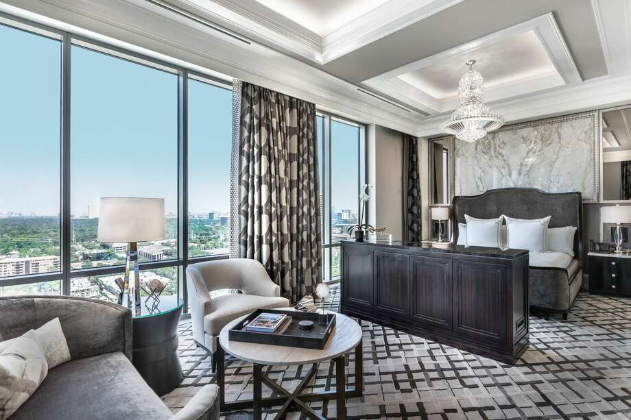The Post Oak Hotel at Uptown Houston is offering a $20,000 Valentine's Day package for couples in the mood to indulge. Pictured: The presidential suite master bedroom at The Post Oak Hotel at Uptown Houston. >>> See some of the amenities at The Post Oak Hotel at Uptown Houston ... Photo: Fertitta Entertainment