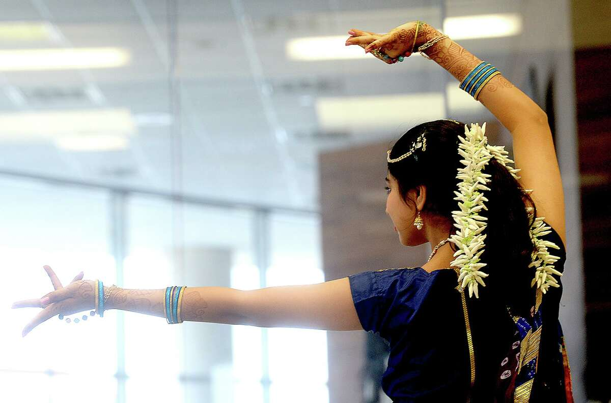 The Woodlands Children's Museum will present Bollywood Workshops starting Jan. 22. This photo shows Bollywood Dream's Khushi Malani performing a solo dance while joining in the National Dance Day of Southeast Texas at Edison Plaza Saturday, July 28, 2018.