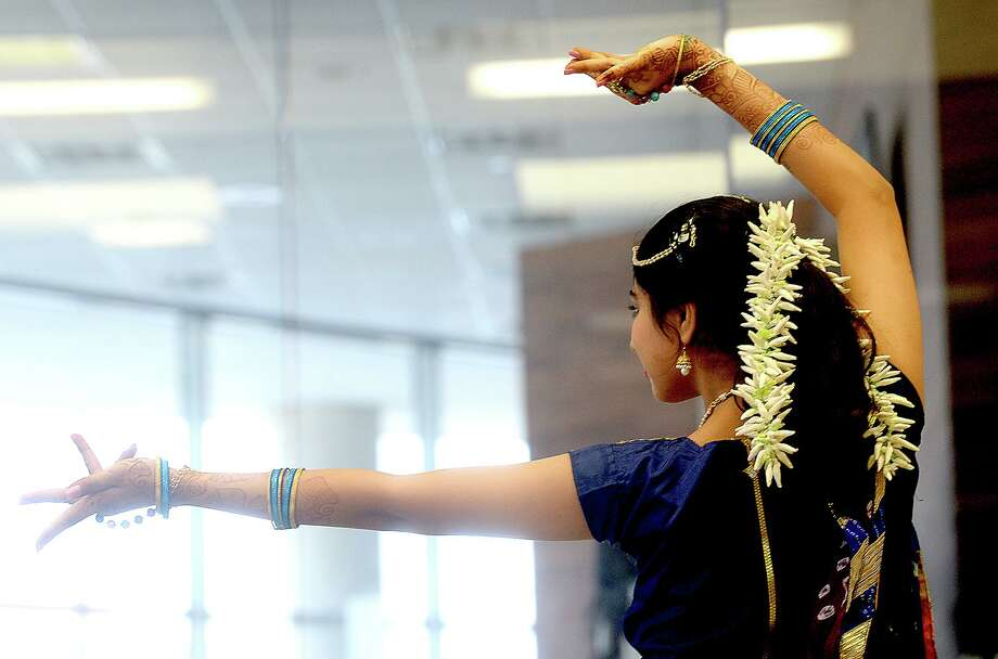 The Woodlands Children's Museum will present Bollywood Workshops starting Jan. 22. This photo shows Bollywood Dream's Khushi Malani performing a solo dance while joining in the National Dance Day of Southeast Texas at Edison Plaza Saturday, July 28, 2018. Photo: Kim Brent / The Enterprise / BEN