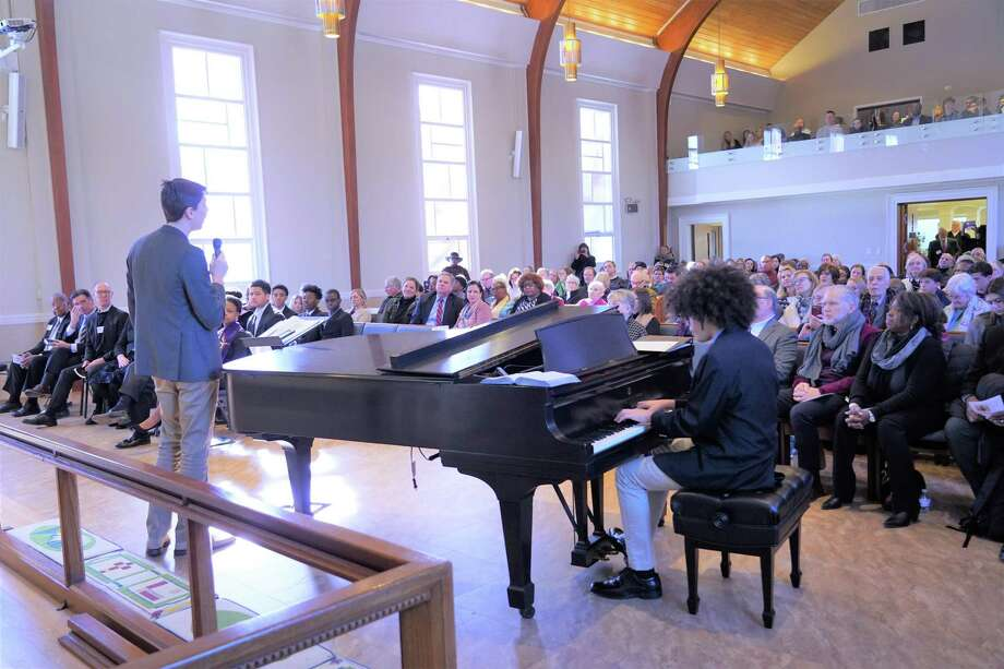 The United Methodist Church of New Canaan on South Avenue was filled with people wishing to celebrate the life of the Rev. Dr. Martin Luther King Jr., on Monday, January 20, 2020. Photo: Grace Duffield / Hearst Connecticut Media / New Canaan Advertiser