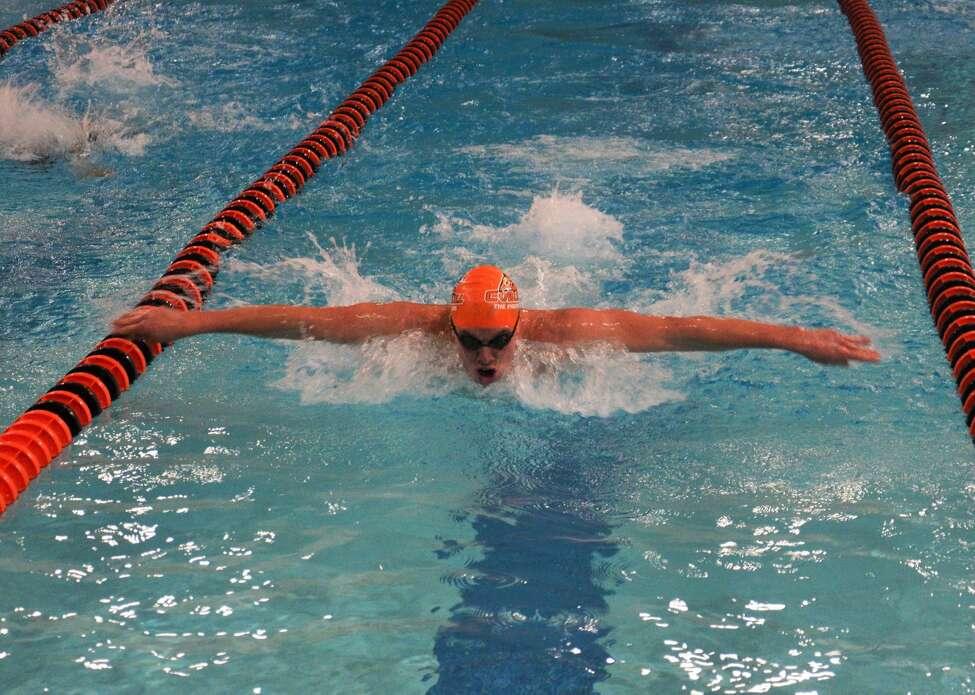 Ballston Spa's Zack Boekeloo of the Cobleskill Community College swim team. (Courtesy of Cobleskill Athletics)