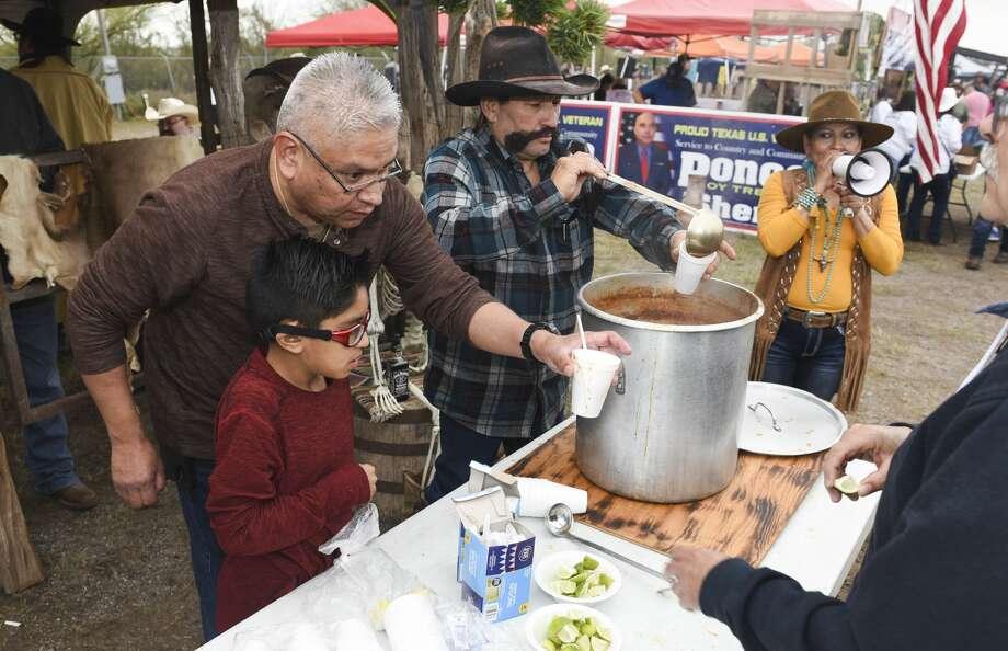 Local organizations participate in the 25th Crimestoppers Menudo Bowl as Laredoans grab samples of menudo to pick the People's Choice winner, Saturday, Jan. 18, 2020, at the L.I.F.E. grounds. Photo: Danny Zaragoza