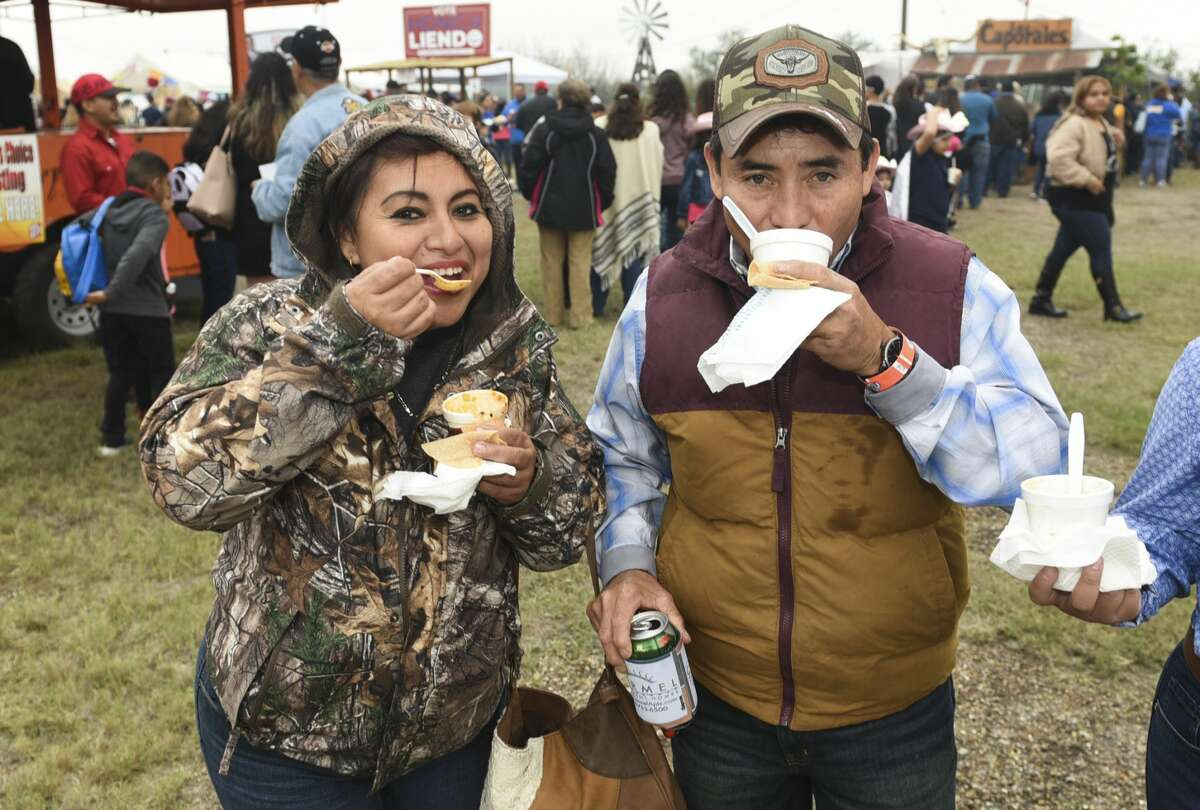 Local organizations participate in the 25th Crimestoppers Menudo Bowl as Laredoans grab samples of menudo to pick the People's Choice winner, Saturday, Jan. 18, 2020, at the L.I.F.E. grounds.