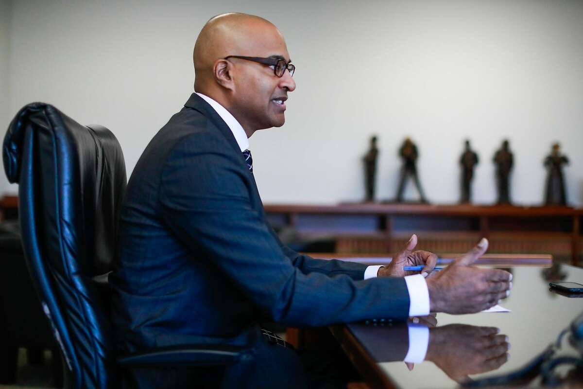 Newly appointed Public Defender Mano Raju sits down with the Chronicle for an interview at his office in San Francisco, California, on Thursday, March 14, 2019.