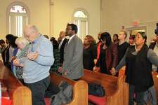 The Martin Luther King Jr. Day event Monday at the Macedonia Baptist Church in Ansonia.