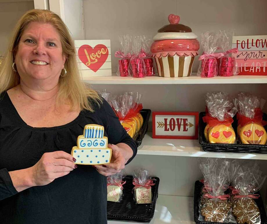 Susan Schmitt, owner of The Painted Cookie, is celebrating seven years of business in Wilton at 196 Danbury Road. The Painted Cookie is a 100-percent tree nut, peanut and sesame-free bakery. Photo: Contributed Photo / Wilton Bulletin Contributed