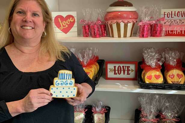 Susan Schmitt, owner of The Painted Cookie, is celebrating seven years of business in Wilton at 196 Danbury Road. The Painted Cookie is a 100-percent tree nut, peanut and sesame-free bakery.