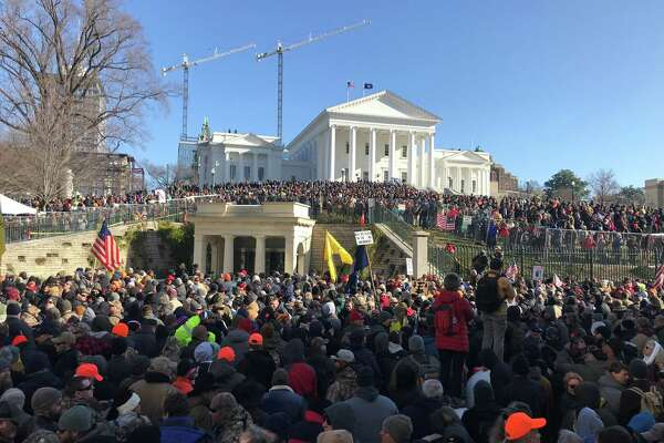 The crowd at the gun rights rally in Richmond, Virginia, on Jan. 20, 2020.