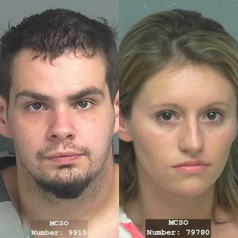 Patrick Lloyd Bratcher, 27, of Conroe, is being charged with burglary of habitation, a second-degree felony. Kayla Christine Smith, 29, of Porter, is being charged with bond forfeiture. Photo: Courtesy Of The Montgomery County Sheriff's Office And The Montgomery County Precinct 2 Constable's